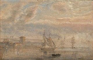 View of Bergen Harbour in Mist