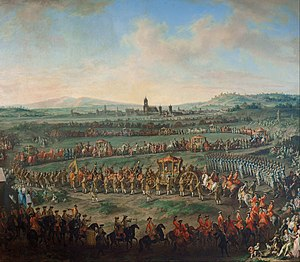 Joseph II, Holy Roman Emperor - Joseph II on his way to Frankfurt for his coronation as Holy Roman Emperor