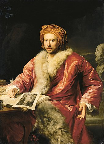 "Johann Joachim Winckelmann, often called ""the father of archaeology"" Johann Joachim Winckelmann (Anton von Maron 1768).jpg"