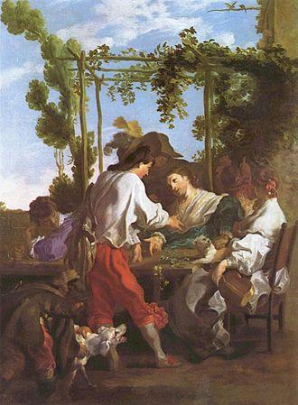 Johann Liss - A game of mora, c. 1622.