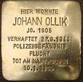 Johann Ollik Stolperstein.jpg