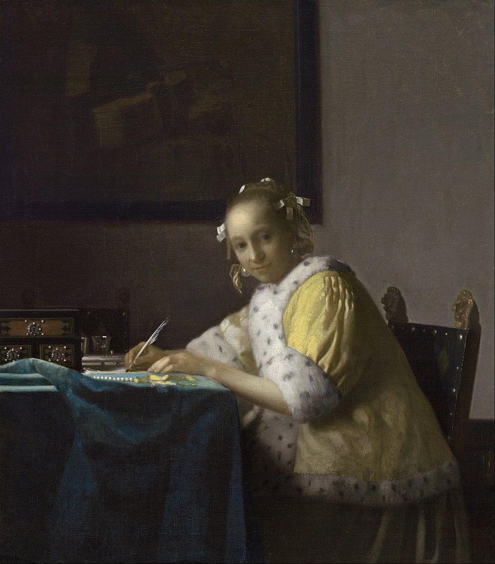 Johannes Vermeer - A Lady Writing - Google Art Project