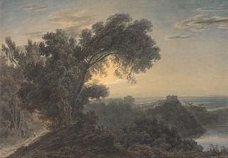 The Lake of Albano and Castle Gandolfo