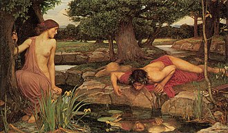 Narcissus (mythology) - Image: John William Waterhouse Echo And Narcissus
