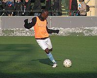 Joseph Elanga træner med MFF, 23 januar 2010