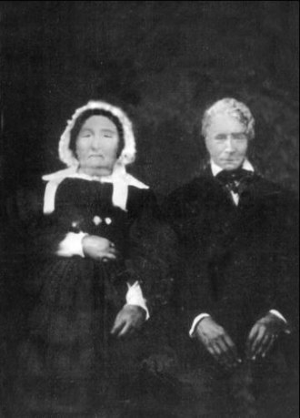 Joseph Plumb Martin - Joseph Plumb Martin and wife, Lucy Clewley Martin, later in life in 19th century portrait painting, date unknown