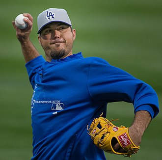 Josh Beckett - Beckett with the Dodgers on April 19, 2013