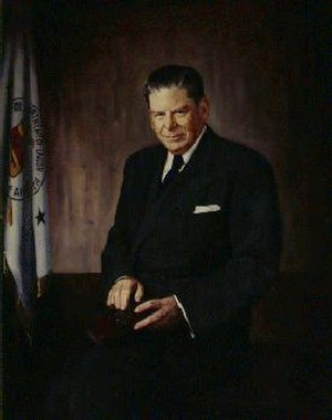 James P. Mitchell - The official portrait of James P. Mitchell hangs in the Department of Labor