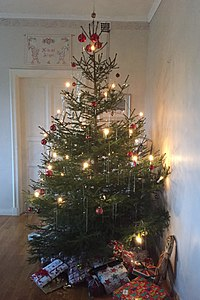christmas tree in sweden in 2017