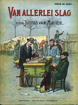 Johan Braakensiek - The cover of Justus van Maurik's Van Allerlei Slag, 1881, which was illustrated by Johan Braakensiek