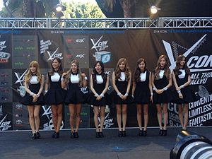 KCON (music festival) - Girls' Generation 2014 red carpet.