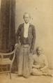 KITLV - 179940 - Buwalda, K. - Soerabaya-Java - Studio portrait of wedono Modjokasserie (?) with a follower in Surabaya - circa 1868.tiff
