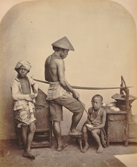 KITLV 90761 - Isidore van Kinsbergen - Seller of food on Java - Around 1865.tif