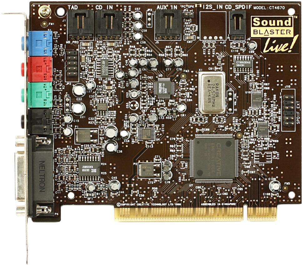 KL Creative Labs Soundblaster Live Value CT4670 (cropped and transparent)