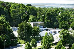 KUNSTEN Museum of Modern Art Aalborg - Aerial view of the grounds