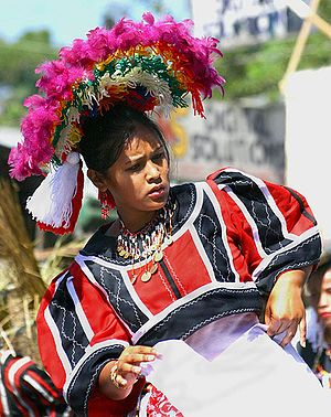 Lumad - A woman in traditional Manobo dress
