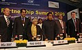 Kamal Nath, the Chief Minister of Delhi, Smt. Sheila Dikshit and the Secretary of State for Business, Enterprises & Regulatory Reform, UK, Mr. Peter Mandelson, at the Partnership Summit 2009, in New Delhi on January 19, 2009.jpg