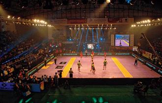 Patna Pirates - Patna Pirates during a home leg match at Patliputra Sports Complex