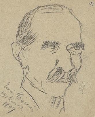 Edoardo Sonzogno - More than likely Edoardo Sonzogno drawn by Enrico Caruso, 1909, Ghent University Library