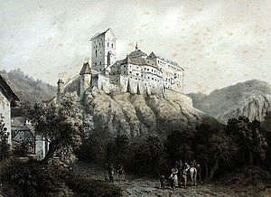 Karlštejn - Karlštejn around 1850