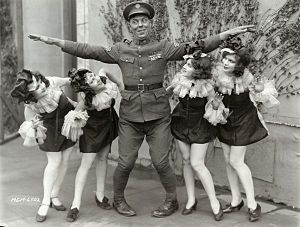 Rookies (film) - Still with Karl Dane and chorus girls.