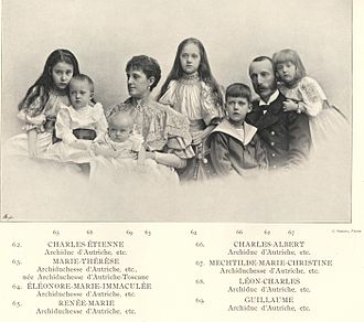 Archduchess Maria Theresa of Austria (1862–1933) - Maria Theresia, Charles Stephen, and their family; photographed in 1896.