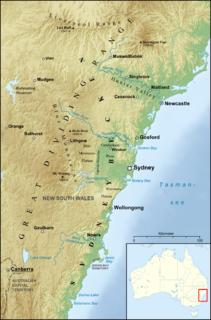 Sydney Basin Region in New South Wales, Australia