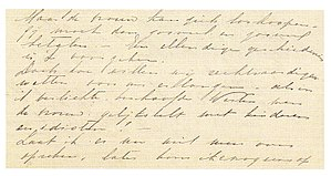 Kartini - Letter by Kartini to Rosa Abendanon (fragment)