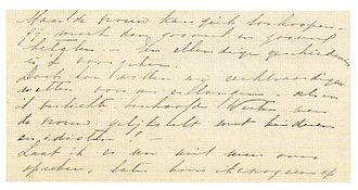 Kartini - Letter by Kartini to Rosa Abendanon (fragment)