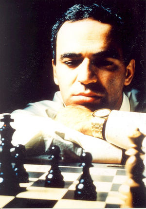 Deep Blue versus Kasparov, 1996, Game 1 - World Champion Garry Kasparov