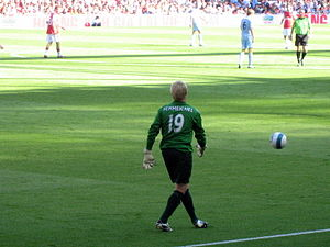 Kasper Schmeichel - Schmeichel during a match against Arsenal in 2007