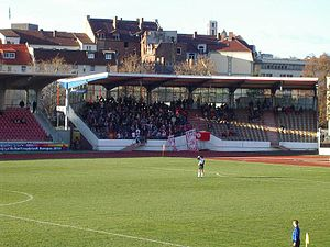 Auestadion - Auestadion, north grandstand at 6 December 2003
