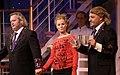 Katharina Straßer, Gregor Seberg, Rudi Roubinek - Nestroy-Theaterpreis 2011.jpg
