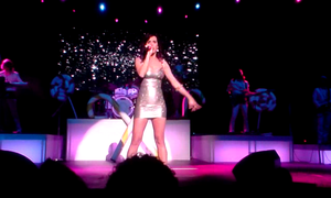 "Teenage Dream (Katy Perry album) - Perry performing ""E.T."" in Budapest."