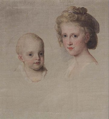 Maria Amalia (left) with her older sister Maria Luisa, by Angelica Kauffmann, 1782. Kauffmann - Maria Luisa and Maria Amalia of Naples and Sicily.jpg
