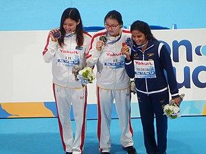 Fu Yuanhui - Image: Kazan 2015 Victory Ceremony 50m backstroke W