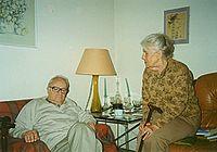 Kazimierz Brandys and Maria Zenowicz Brandys in Paris 1998.jpg