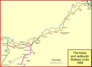 The Kelso and Jedburgh railway branch lines - The Kelso and Jedburgh lines in 1856