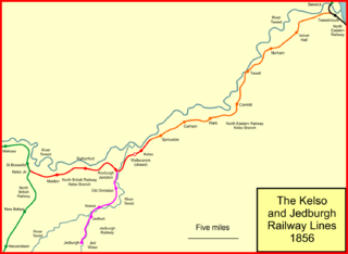 The Kelso and Jedburgh railway branch lines