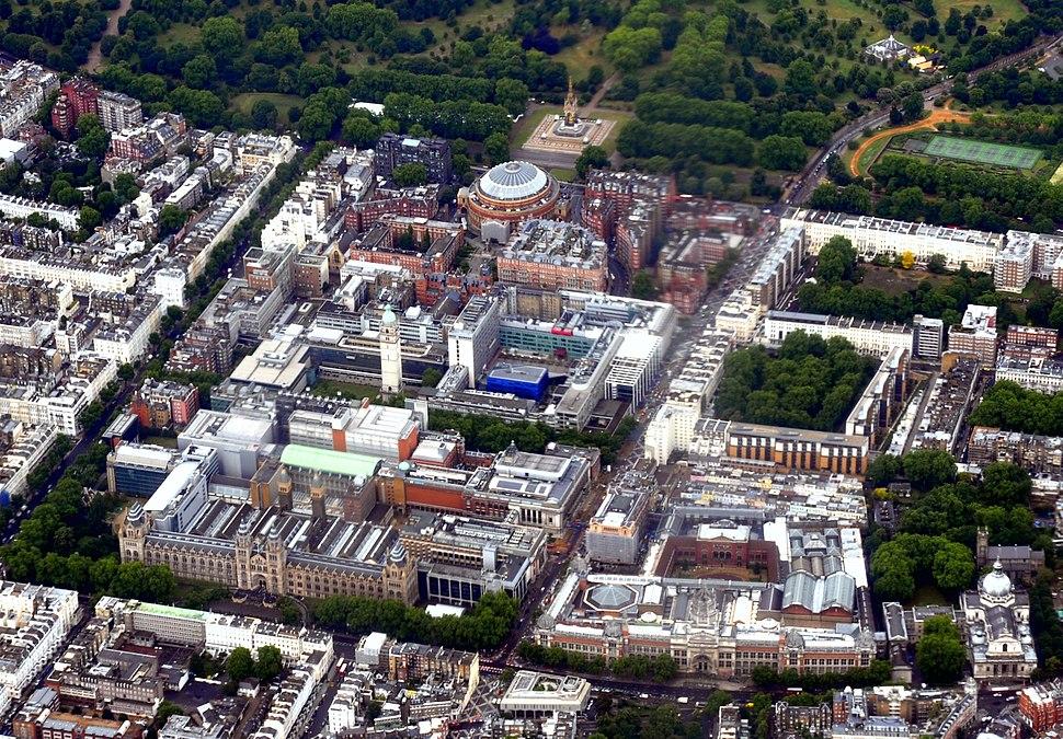 Kensington Museums aerial 2011 b