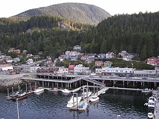 Tongass Narrows channel in Alaska, U.S.