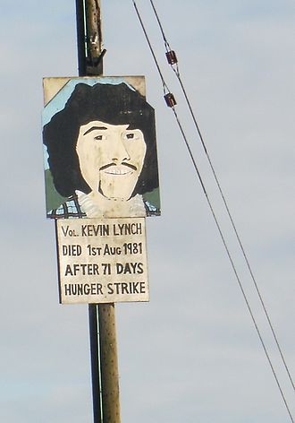 Kevin Lynch (hunger striker) - Placard honouring Lynch in Dungiven