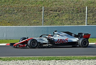 Kevin Magnussen - Magnussen testing for Haas in 2018.