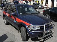 Kia fire engine on Dolnych Mlynow street in Krakow.jpg