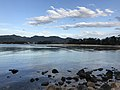 Kikugahama Beach from Shioirimon Gate of Hagi Castle 1.jpg