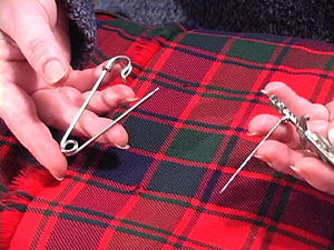 Kilt accessories - Two types of kilt pins