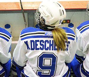 Montreal Carabins women's ice hockey - Kim Deschênes, captain of Montréal Carabins
