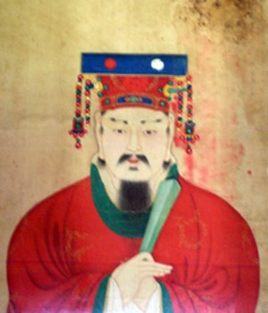 Gyeongju - A portrait of the last king of Silla, King Gyeongsun (r. 927–935). After his surrender to King Taejo, Gyeongju lost its status as capital city.
