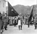 King Nicholas of Montenegro with captured Ottoman flag.png