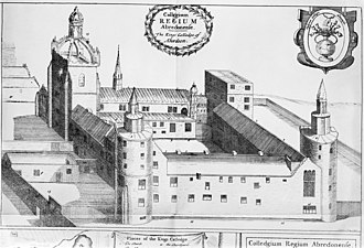 University of Aberdeen - An illustration of King's College in 1661.
